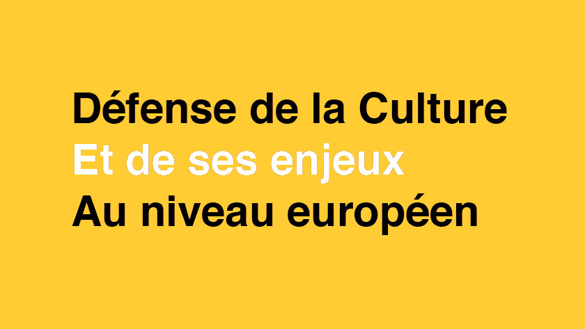 The ACCR supports the actions of Culture Action Europe and 3.3 Alliance – Europa Nostra